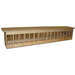 Duivenvoerbak hout PLAT